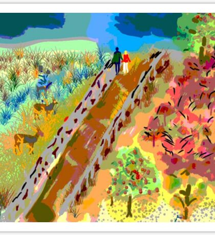 French Countryside, by Roger Pickar, Goofy America Sticker