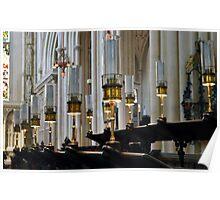Choir Stalls in Bath Abbey Poster