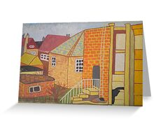 Old Village Greeting Card
