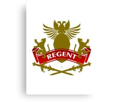 The Regent Coat-of-Arms Canvas Print