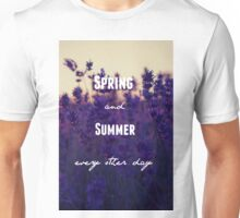 Spring Awakening- Blue Wind Lyric Unisex T-Shirt