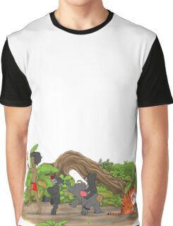 Red Flower March Graphic T-Shirt