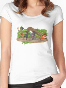 Red Flower March Women's Fitted Scoop T-Shirt