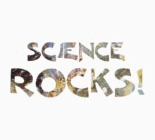 Cool Geeky Science Rocks Warm Earth Tone Granite Kids Tee
