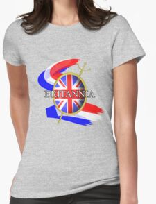 Rule Britannia Union Jack British Themed Graphic Womens Fitted T-Shirt