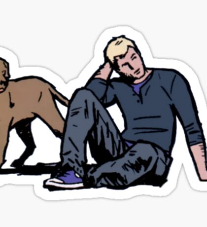 Clint & Lucky Sticker