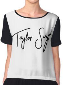 Taylor Swift Black Chiffon Top
