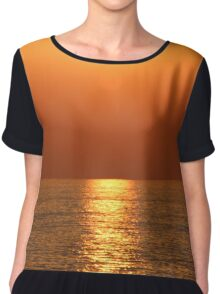 Seaside Sunset Chiffon Top