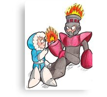 Ice Man and Fire Man Canvas Print