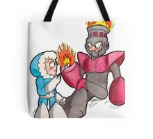 Ice Man and Fire Man Tote Bag