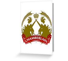 The Chamberlain Coat-of-Arms Greeting Card