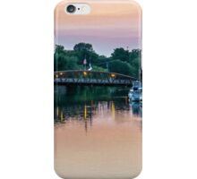 Pink Sunset in Fairport, NY iPhone Case/Skin