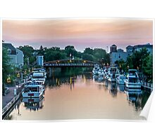 Pink Sunset in Fairport, NY Poster