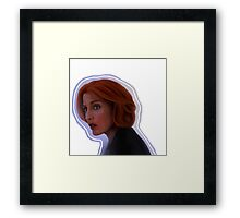Foggy Scully Framed Print