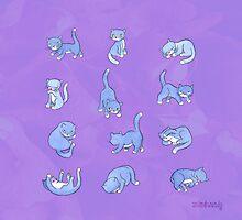 Standing, Sleeping, Sitting Still (violet) by johnandwendy