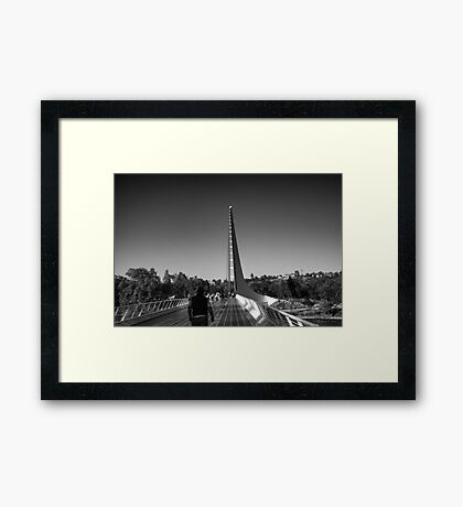 The Sundial Bridge Framed Print