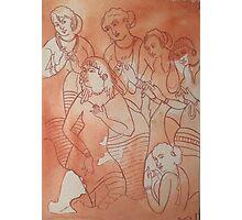 Ajanta Caves Art Photographic Print