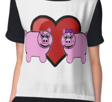 Piggy Love Chiffon Top