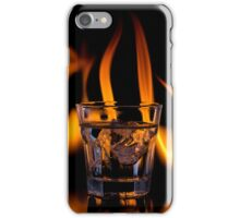 Iced Drink with Flames iPhone Case/Skin
