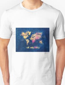 World map watercolor 4 Unisex T-Shirt
