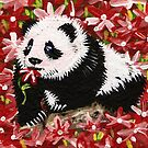 Panda Cub in Red by IanLeeOliver