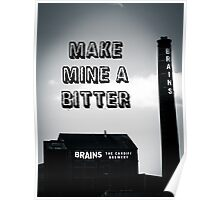 Brains Bitter art Poster