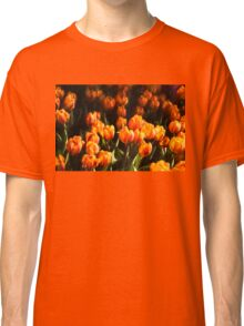 Impressions of Gardens - Flame Colored Tulip Abundance Classic T-Shirt