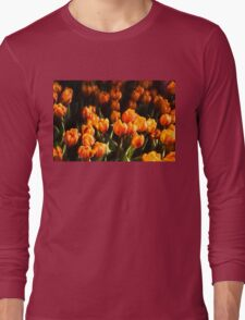 Impressions of Gardens - Flame Colored Tulip Abundance Long Sleeve T-Shirt