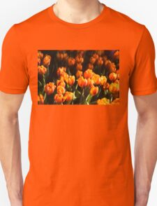 Impressions of Gardens - Flame Colored Tulip Abundance Unisex T-Shirt