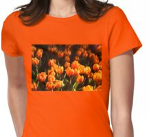 Impressions of Gardens - Flame Colored Tulip Abundance Womens Fitted T-Shirt