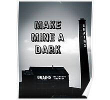 Brains Dark Art Poster