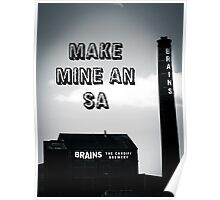 Brains SA Art Poster