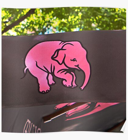 Pink elephant Poster