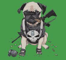 Pug Punisher Army One Piece - Short Sleeve