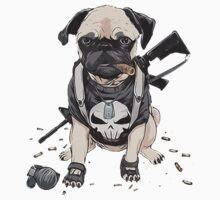 Pug Punisher Army Baby Tee