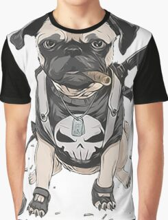 Pug Punisher Army Graphic T-Shirt