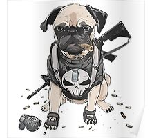 Pug Punisher Army Poster