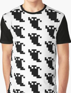 8 Bit Pixel Ghost Shadow Graphic T-Shirt