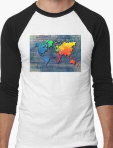 World map special 8 Men's Baseball ¾ T-Shirt