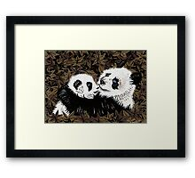 Mother and Cub in Gold Framed Print