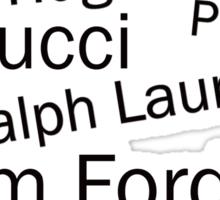 WORLD FAMOUS FASHION DESIGNERS  Sticker