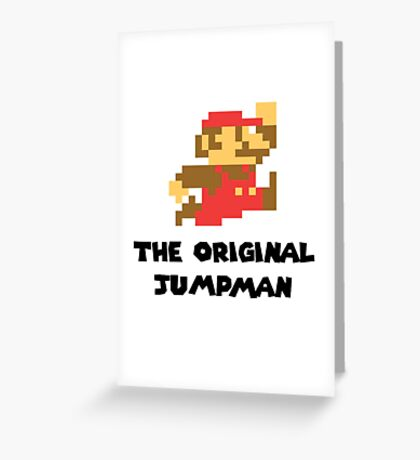 Mario - The Original Jumpman Greeting Card