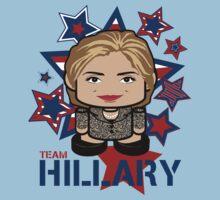 Team Hillary Politico'bot Toy Robot Baby Tee