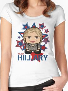 Team Hillary Politico'bot Toy Robot Women's Fitted Scoop T-Shirt