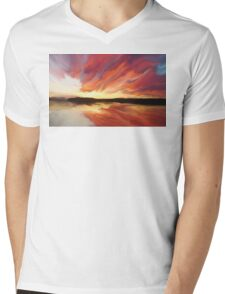 Sunset art Mens V-Neck T-Shirt