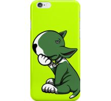 Bull Terrier Green  iPhone Case/Skin