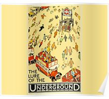 London Underground - Vintage Poster - Lure of the Tube Poster