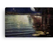 Moonlight Ripples Canvas Print