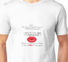 Can you prove your love in 6 different languages? Unisex T-Shirt