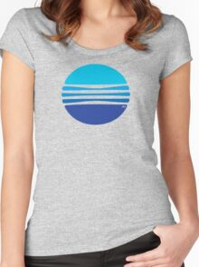Lovely Blue Circle T-Shirt Women's Fitted Scoop T-Shirt